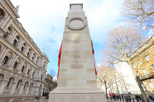 the cenotaph, london - war memorial stock pictures, royalty-free photos & images