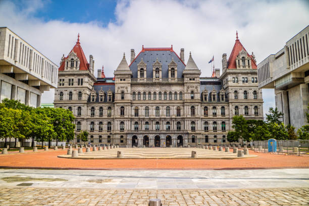 The center of administration in Albany, New York stock photo