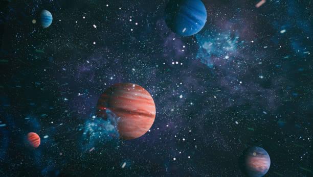 Evrendeki Samanyolu galaksisinin ve uzay tozunun merkezi, Yıldızlarla Gece yıldızlı gökyüzü stok fotoğrafı