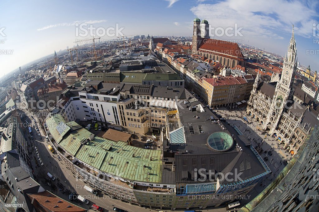 The center of Munich royalty-free stock photo