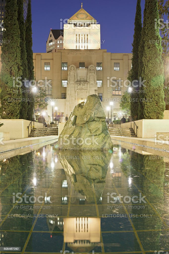 The Central Library - Los Angeles stock photo
