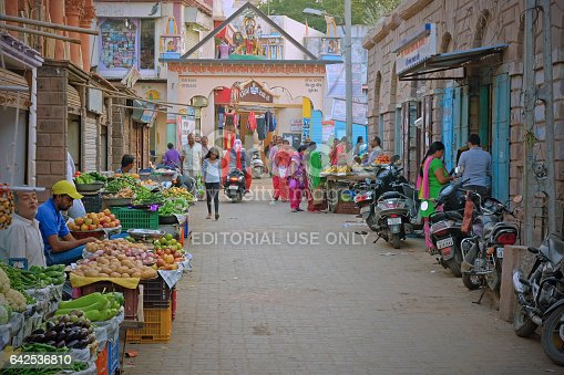istock The central market place in Bhuj, India 642536810