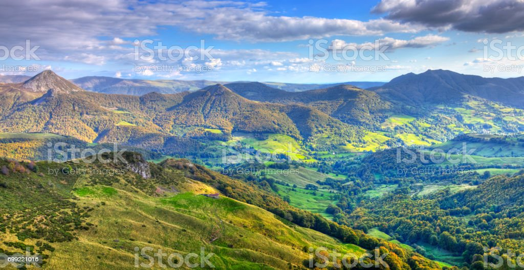 The Central Massif , France stock photo