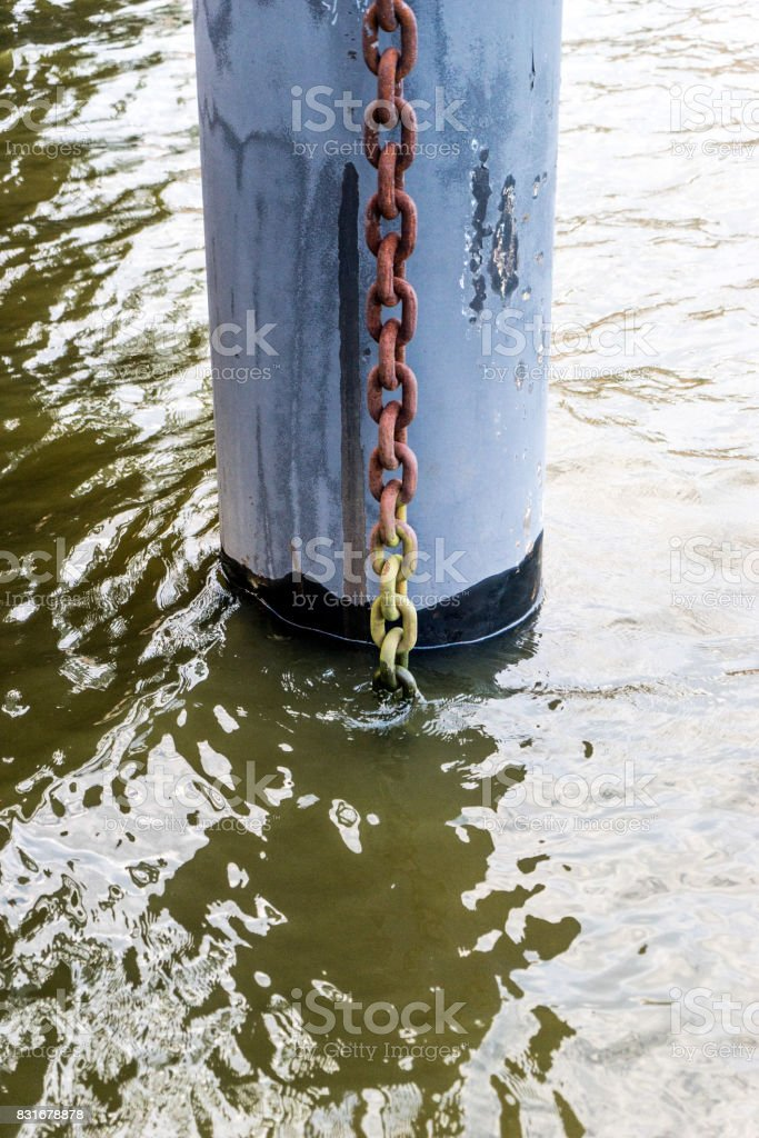 the chain and the stake stock photo