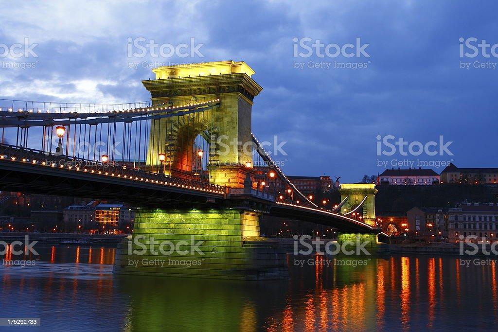 The Chain Bridge royalty-free stock photo