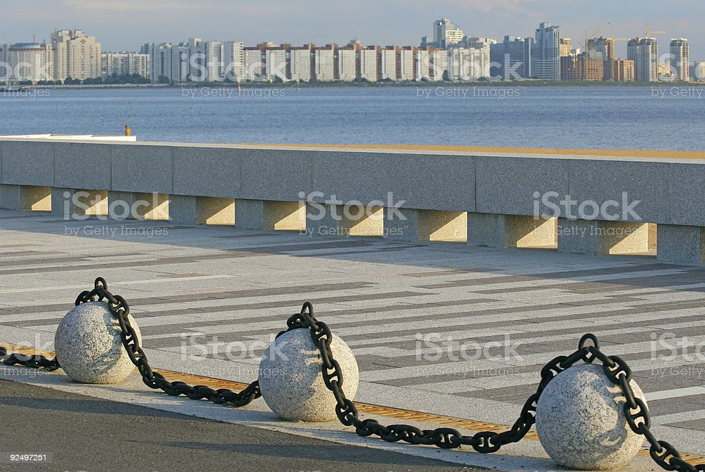 The chained granite royalty-free stock photo