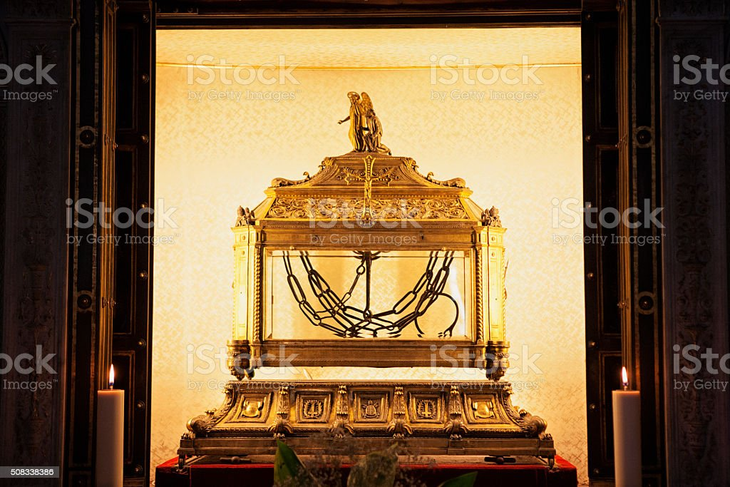 The Chains of Saint Peter at San Pietro in Vincoli stock photo