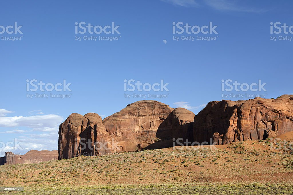 The Chair, Thunderbird Mesa, Monument Valley. royalty-free stock photo