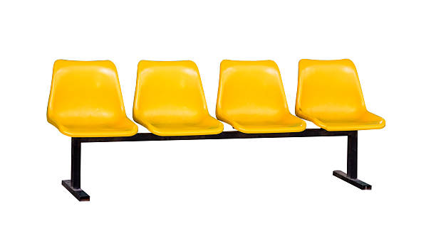 The chair yellow color on white isolate background with clipping. stock photo