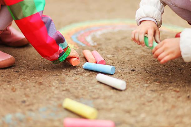 The chalk closeup. stock photo