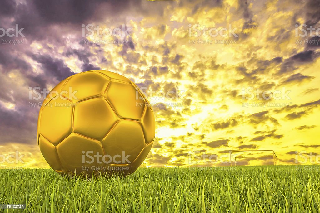 The champion of ball stock photo