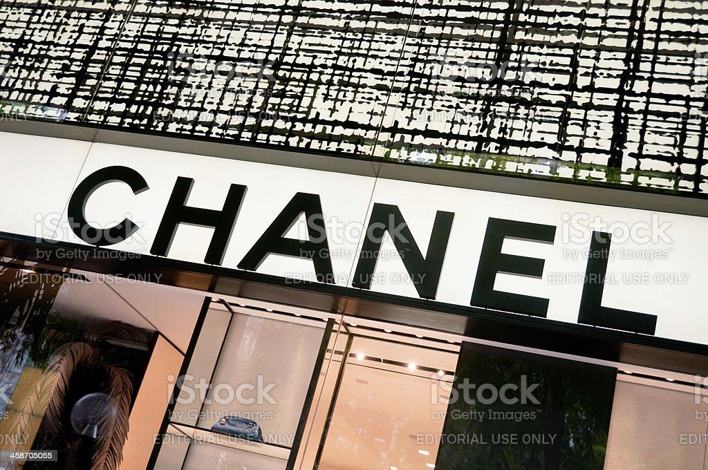 The Chanel Couture Logo bildbanksfoto