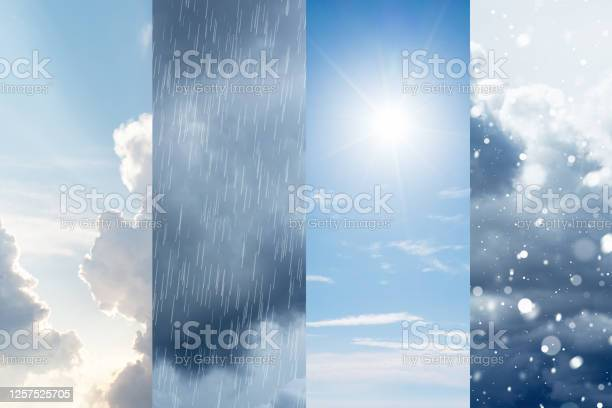 Photo of The changes of weather. A natural phenomenon of the differences of four seasons