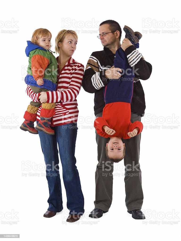 The chaos of raising kids royalty-free stock photo