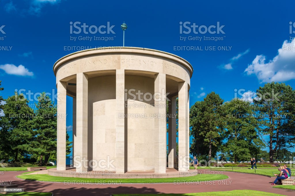 The Chapel at the Normandy American Cemetery and Memorial stock photo