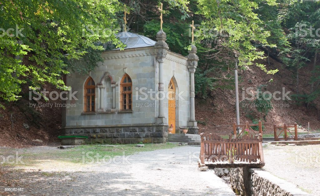 The chapel in Kozmo-Damianovskiy monastery in Crimea stock photo