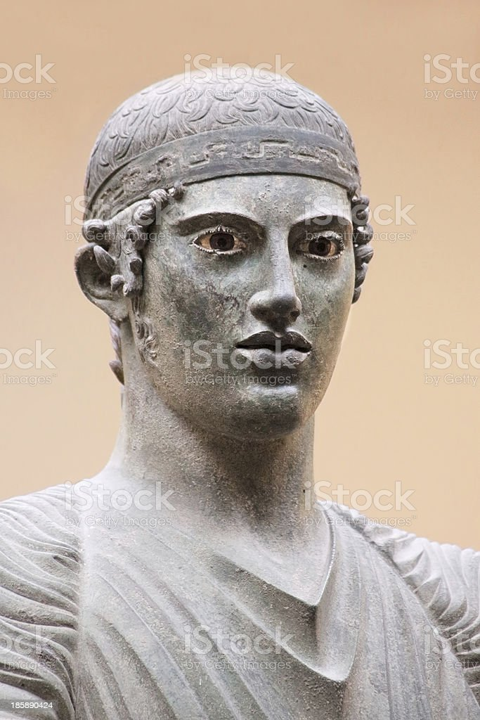 The Charioteer of Delphi stock photo
