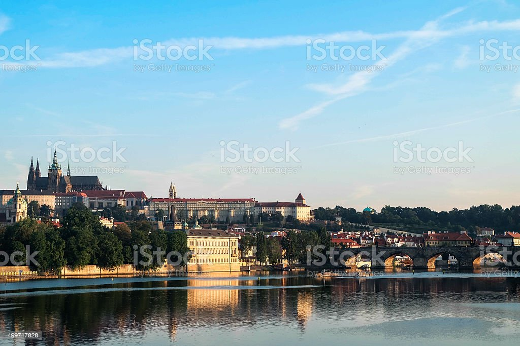 The Charles Bridge in Prague - Czech Republic stock photo