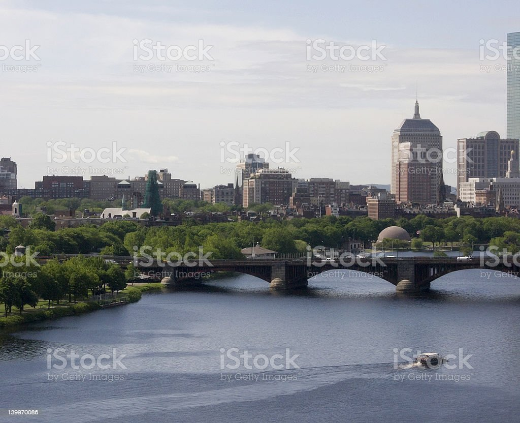 The Charles river in Boston Cambridge royalty-free stock photo