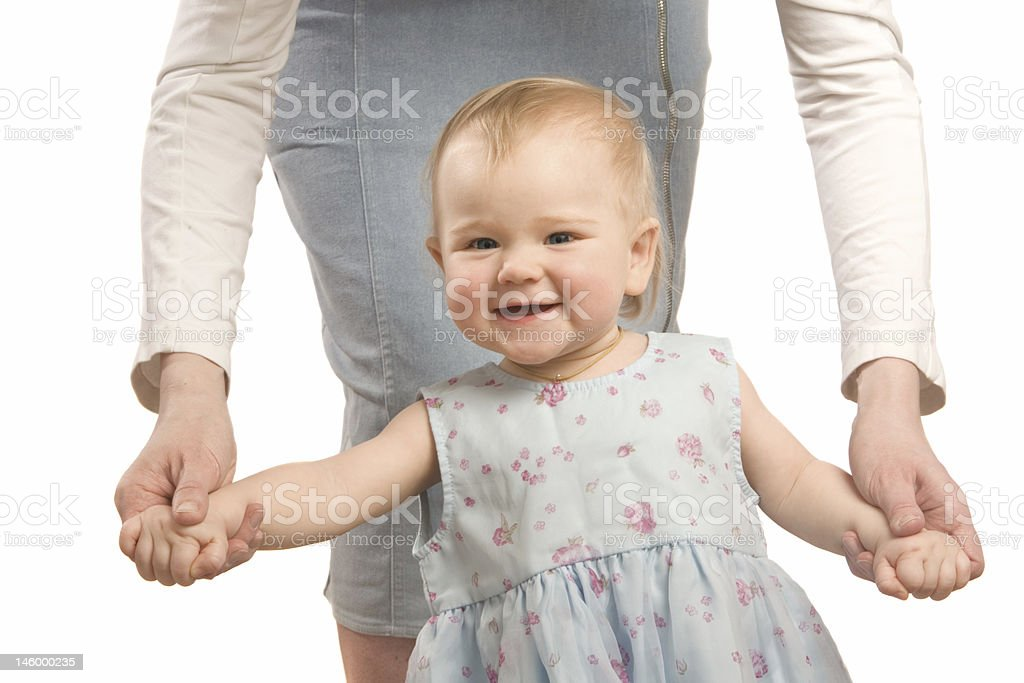The charming baby royalty-free stock photo