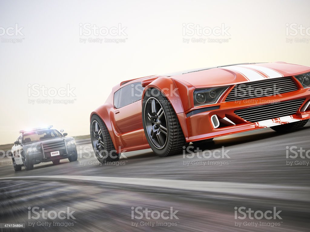 The chase. stock photo