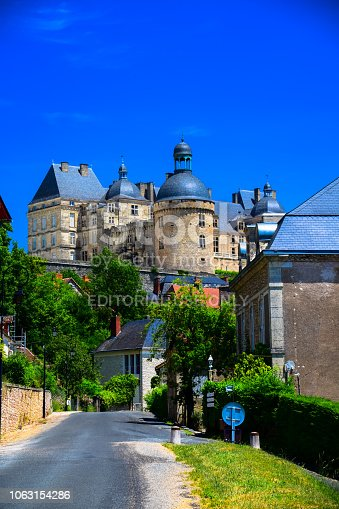 istock The Chateau de Hautefort as seen from the village of Hautefort in the Dordogne region of France 1063154286