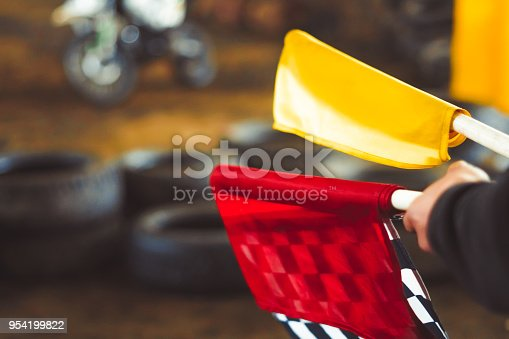 istock the checkered flag lies 954199822