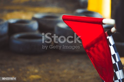 istock the checkered flag lies 954201874