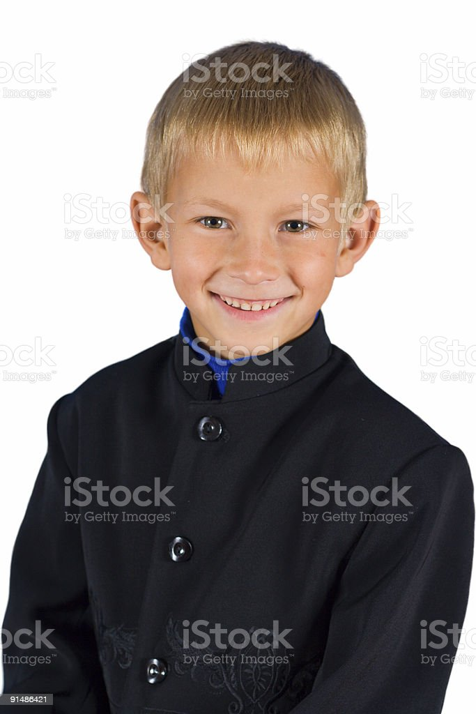 The cheerful and happy boy stock photo