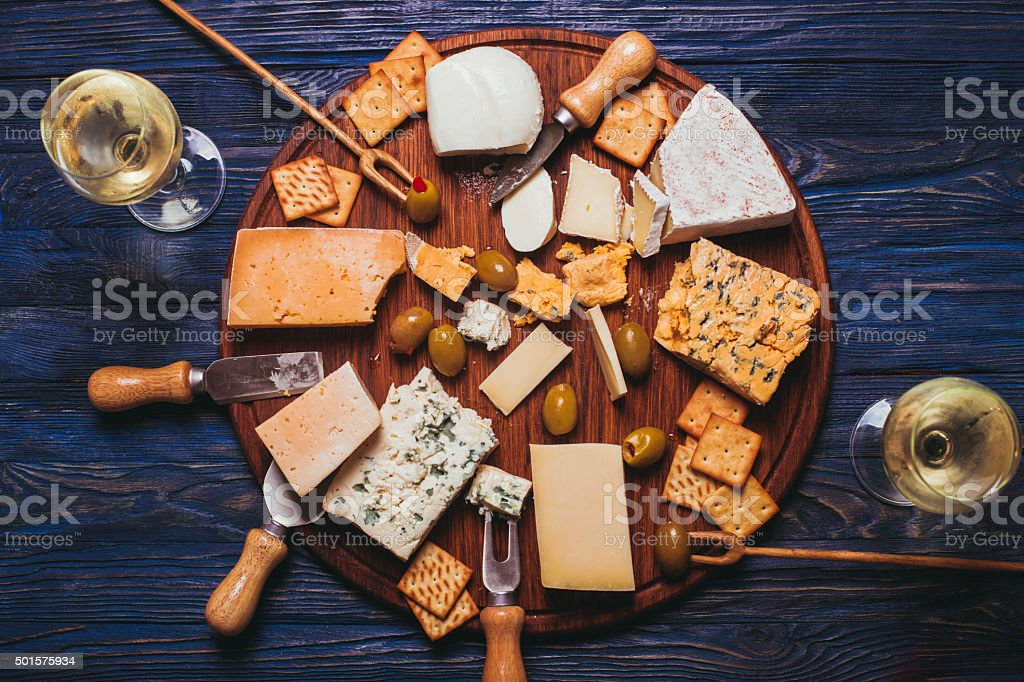 The Cheese plate stock photo