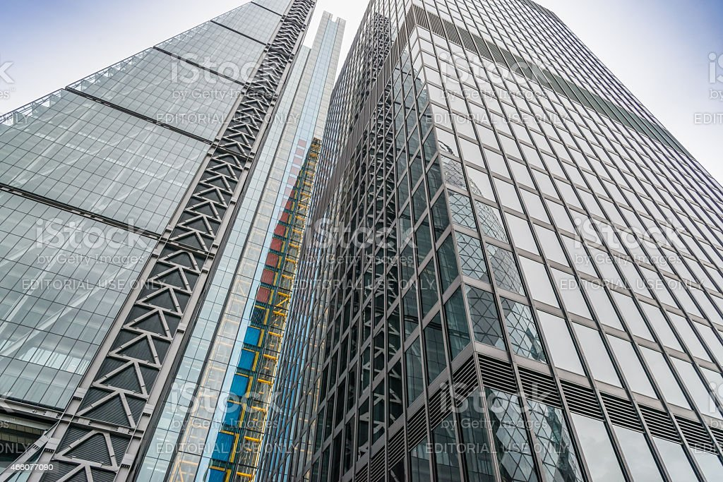The Cheesegrater building London stock photo