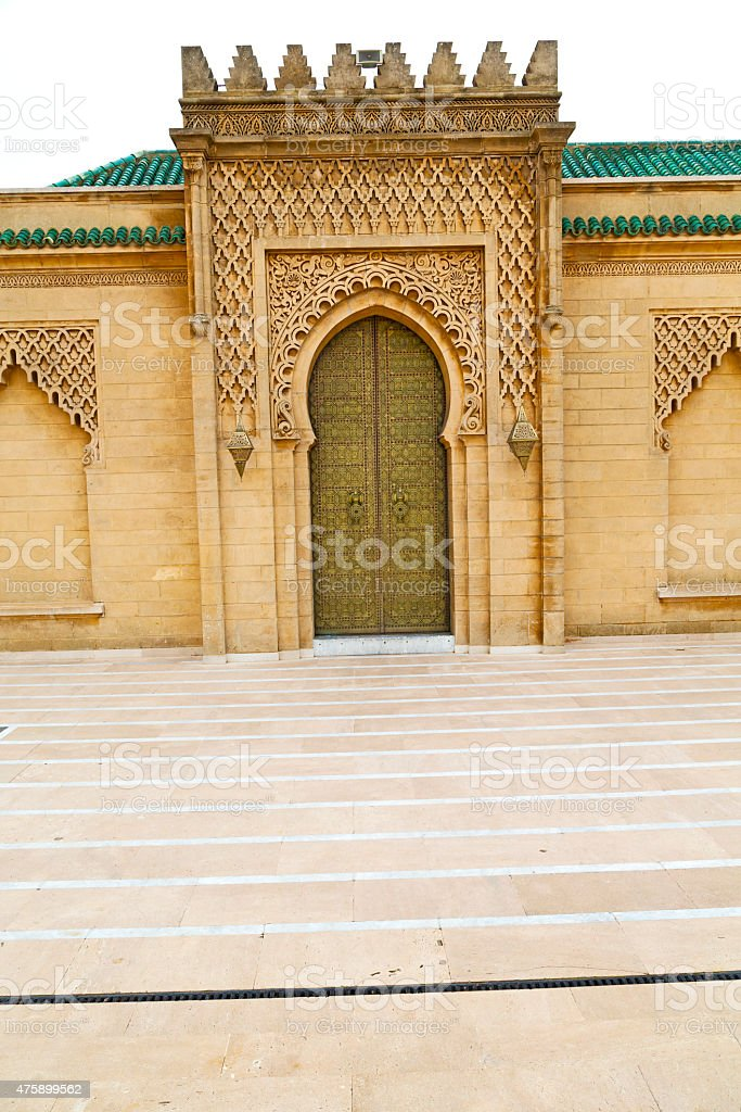 the   chellah  in morocco africa  old roman door stock photo