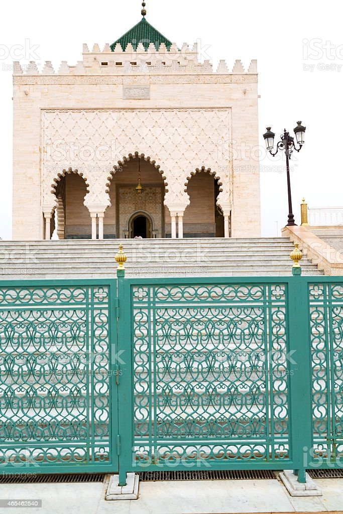 the   chellah  in morocco africa  step  monument and site stock photo