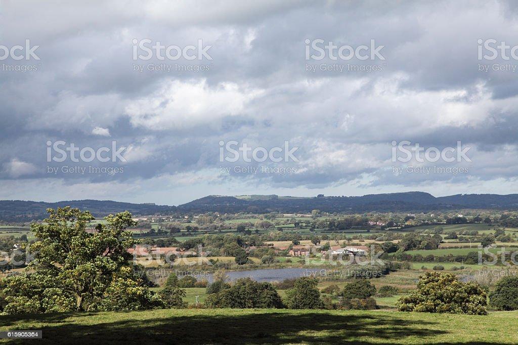 The Cheshire plain stock photo