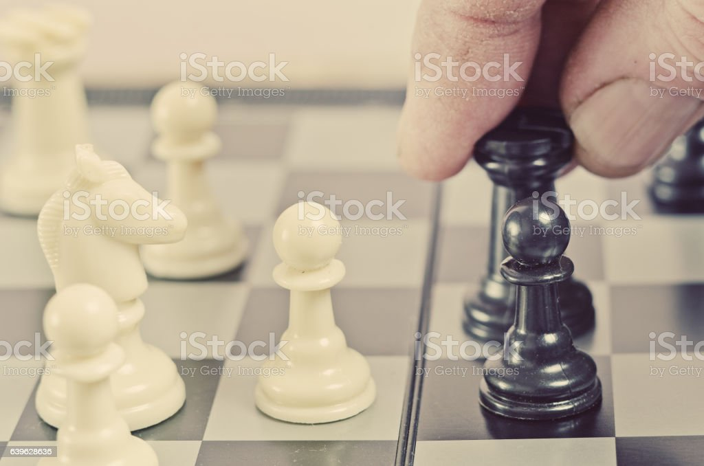 The chess tournament, closeup stock photo