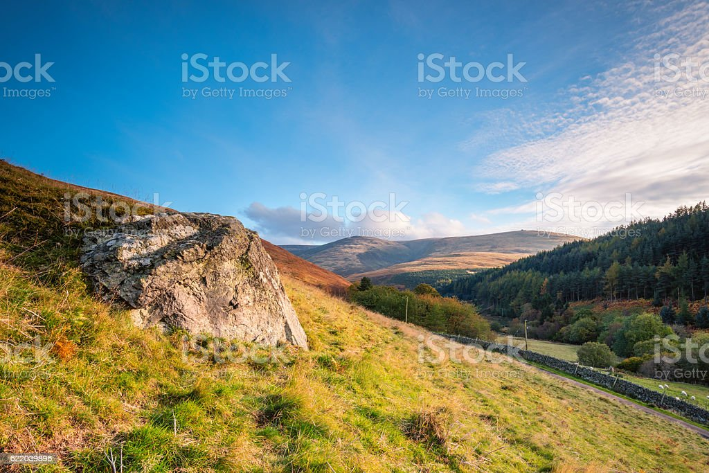 The Cheviot from Coldburn Hill stock photo