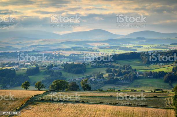 Photo of The Cheviot Hills beyond Coquet Valley