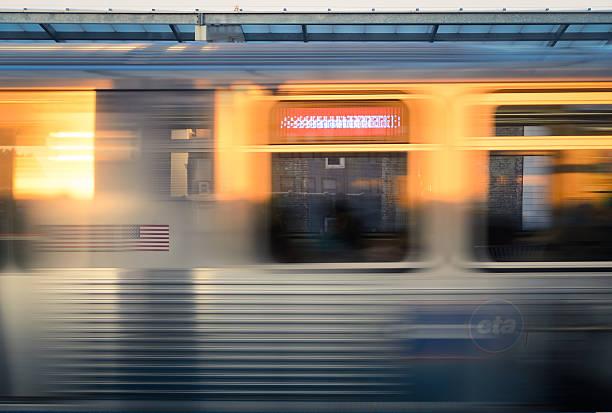 The Chicago Train stock photo