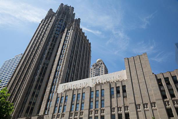 The Chicago Tribune building stock photo