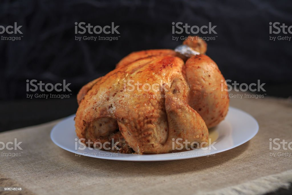 The chicken baked stock photo