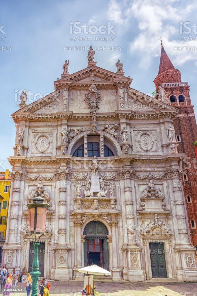 The Chiesa di San Moise (or San Moise Profeta) is a Baroque style, Roman Catholic church in Venice. stock photo