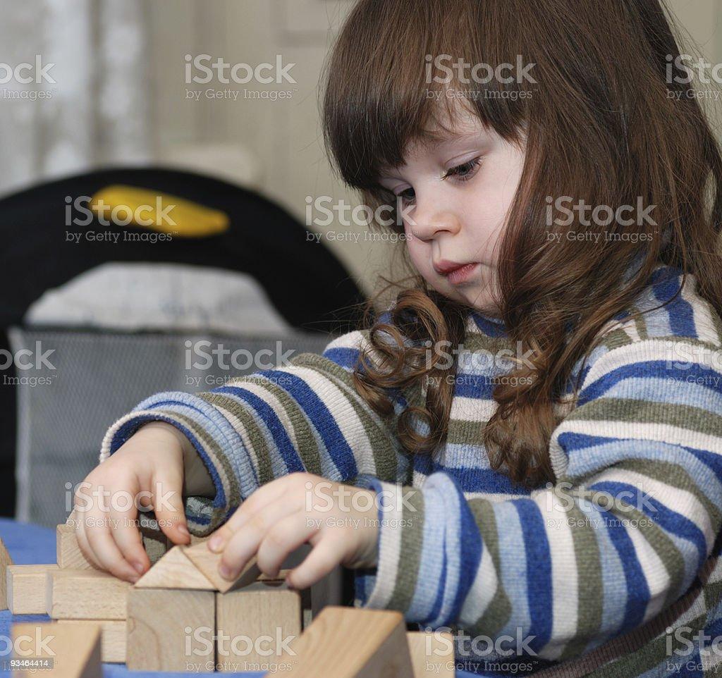The child - architect royalty-free stock photo