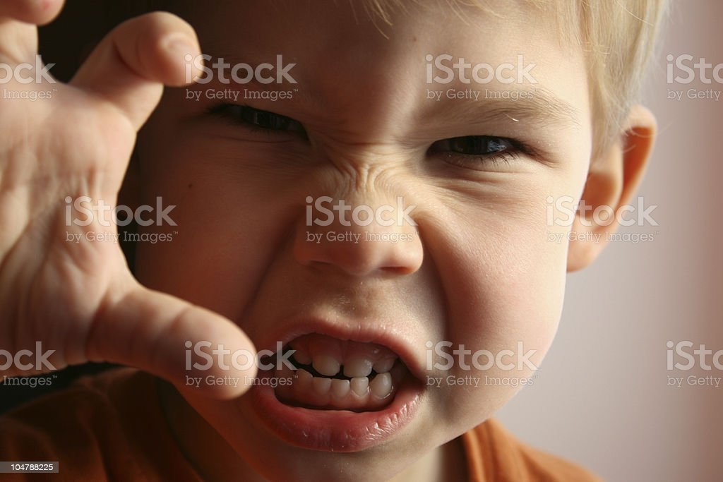 The child in anger. stock photo