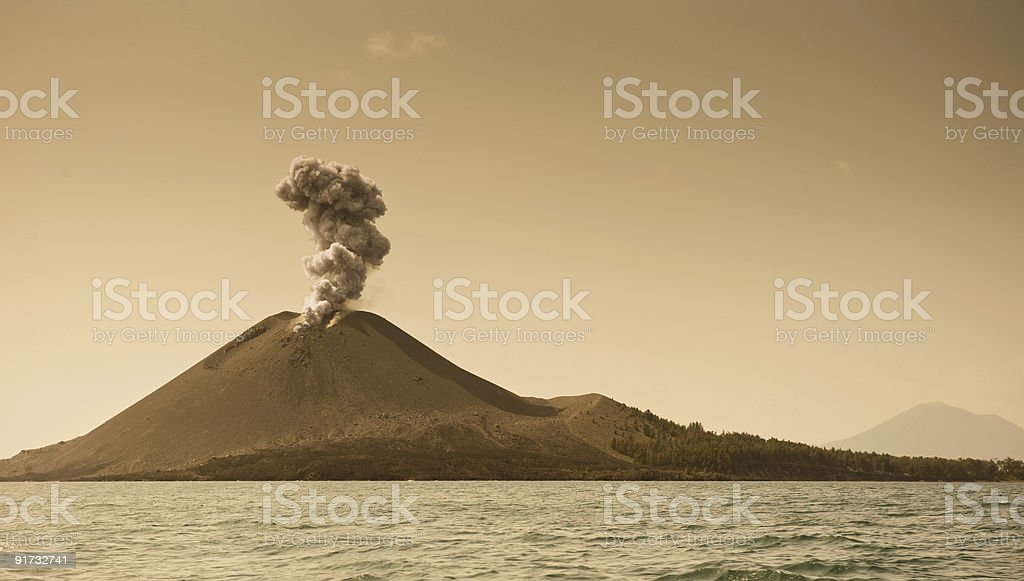 The child of Krakatoa stock photo