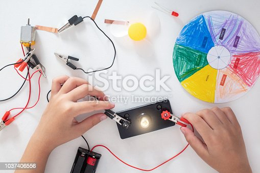 istock The children's hands doing experiments 1037406556