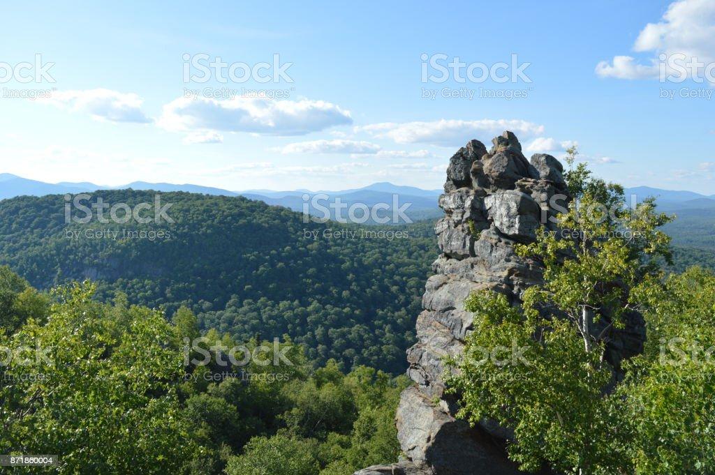 The 'Chimney' of Chimney Mountain stock photo