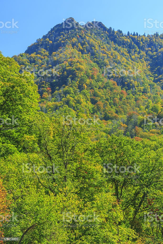 The Chimney Tops royalty-free stock photo