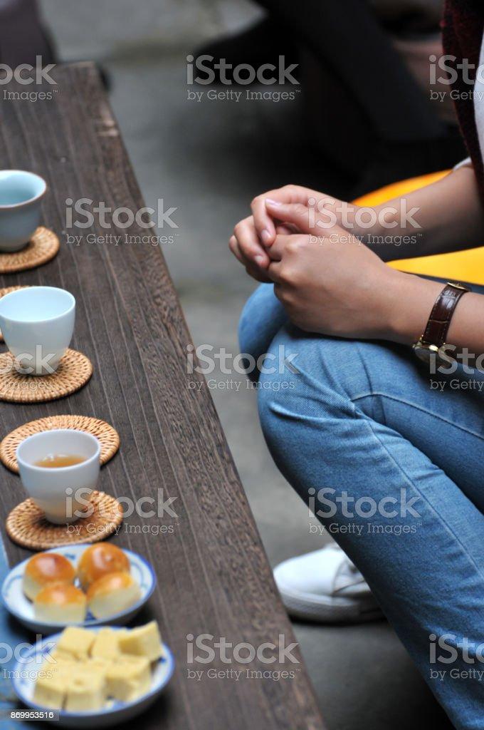 The Chinese tea ceremony stock photo