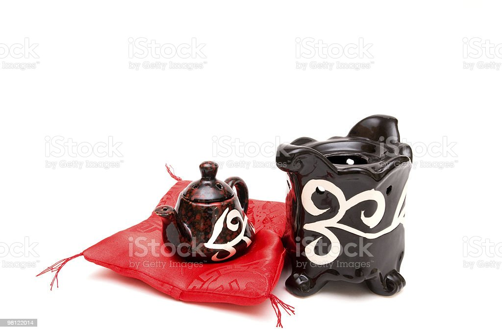 The Chinese teapot royalty-free stock photo