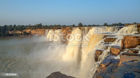 The Chitrakote Falls also spelt as Chitrakote / Chitrakot is a natural waterfall located to the west of Jagdalpur, in Bastar district in the Indian state of Chhattisgarh on the Indravati River